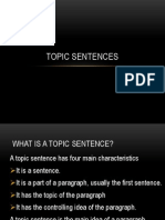 TOPIC SENTENCES 184.ppt