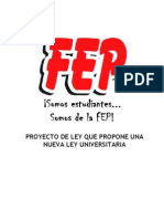 125433848 Propuesta Ley Universitaria Fep