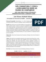 PSICOLOGÍA COMUNITARIA Y CLÍNICA SOCIAL