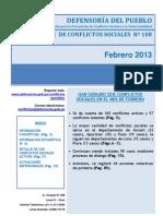 Reporte Mensual 108 Febrero 2013