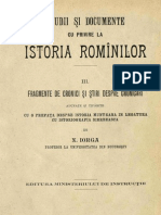 DIR, Iorga, 03 (Fragm. Cronici, Stiri Despre Cronicari)