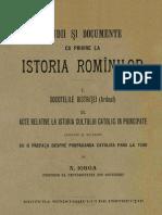 DIR, Iorga, 01-02 (Socotelile Bistritei, Acte Catolice)