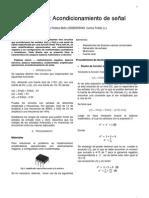 Practica 2 Electronica III Acondicionamiento de señal