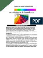 La Psicología de los colores en la publicidad