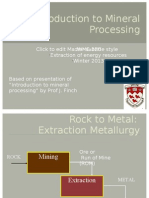 2 - Introduction to Mineral Processing