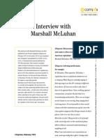 Marshall McLuhan's interview