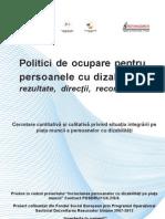 Studiu Sociologic Politici de Ocupare Pentru Persoane Cu Dizabilitati