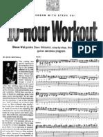 Steve Vai - 10 Hour Workout