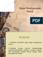 BAHASA PEMROGRAMAN Dasar Pemrograman Pascal