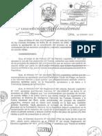 Resolución ministerial del 19 de octubre de 2009