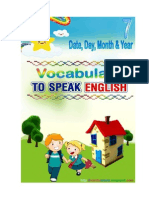 Let's Speaking English, Speaking 7, Date, Day, & Month