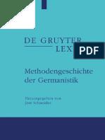 (de Gruyter Lexikon)Jost Schneider-Methodengeschichte Der Germanistik (de Gruyter Lexikon)-Gruyter(2009)