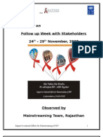 Report of Follow Up Week With Stakeholders