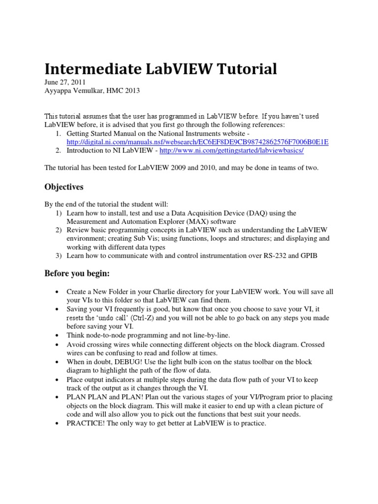 labview tutorial low pass filter control flow rh scribd com labview 2011 manual labview manual 2016