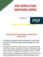54601941 MPA 7 Paradigma Penelitian