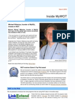 March 2009 Inside MyWOT Current WOT News Michael Widenius,