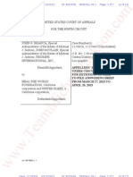 Branca v HTWF- Estate Motion 4 Extension=Appellate court