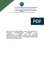 PROYECTO DE REGLAMENT0 RECINTOS CENTROS (Versión No. 2)(1)
