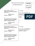 Branca v HTWF- ORDER-Appellate court