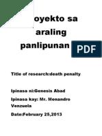 Proyekto Sa Araling Panlipunan IV