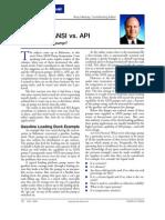 ANSI Vs API