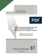 Política de incentivos fiscais para o desenvolvimento regional - uma crítica à MP 512