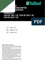Notice d Utilisation chaudière Vaillant Vuw BE 240 1 Xe
