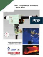 Pyromètre à comparaison d'intensité Mikro PV11