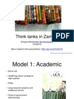 Presentation Zambia Think Tanks Oxford