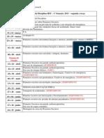 Cronograma HSU - 2013 5 semestre B - segunda e terça