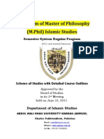 M.phil Course Outlines