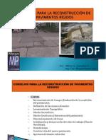 RECONSTRUCCIÓN DE PAVIMENTOS RÍGIDOS - Consejos Prácticos