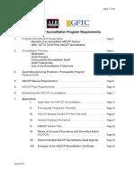 2011 HACCP Accreditation Program Requirements