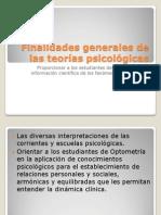 Finalidades generales de las teorías psicológicas