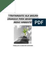 Tratamiento Ala Basura Organica Para Beneficio Al Medio Ambiente
