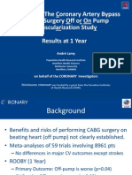 Revascularización miocárdica sin bomba; iguales resultados al año que la cirugía con bomba