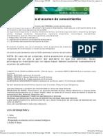 Guía para el examen de conocimientos. Instituto de Biotecnologia UNAM
