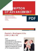 Presumption of Advancement (Ponniah case) - slides