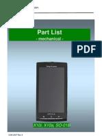 Sony Ericsson Xperia X10 Part List v4
