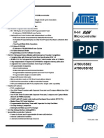 Ateml AT90USB162 Datasheet