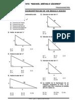 Trigonometria - Razones Trigonometricas de Un Angulo Agudo 1