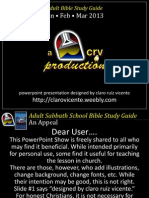 1st Quarter 2013 Lesson 11 Sabbath a Gift From Eden Powerpoint Show