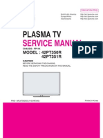 LG PLASMA TV 42pt350r-Td  Service Manual