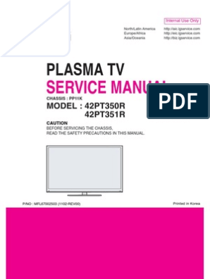 LG PLASMA TV 42pt350r-Td Service Manual | Alternating