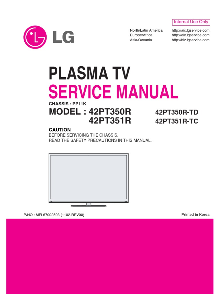 lg plasma tv 42pt350r td service manual alternating current rh es scribd com lg pdp42v7 plasma tv service manual lg mz-42pz44 plasma tv service manual