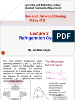 Lecture 2. Refrigeration Cycles