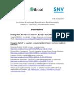 IB-InO Forum - Presentations