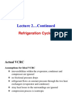 Lecture 3. Refrigeration Cycles 2
