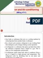 Lecture 4. Refrigerants