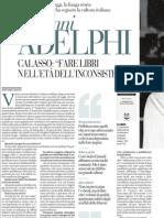 Cinquant'anni di Adelphi. Un marchio che ha segnato la cultura italiana - La Repubblica 15.03.2013